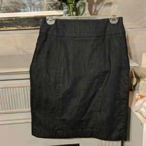 Dark dress denim pencil skirt